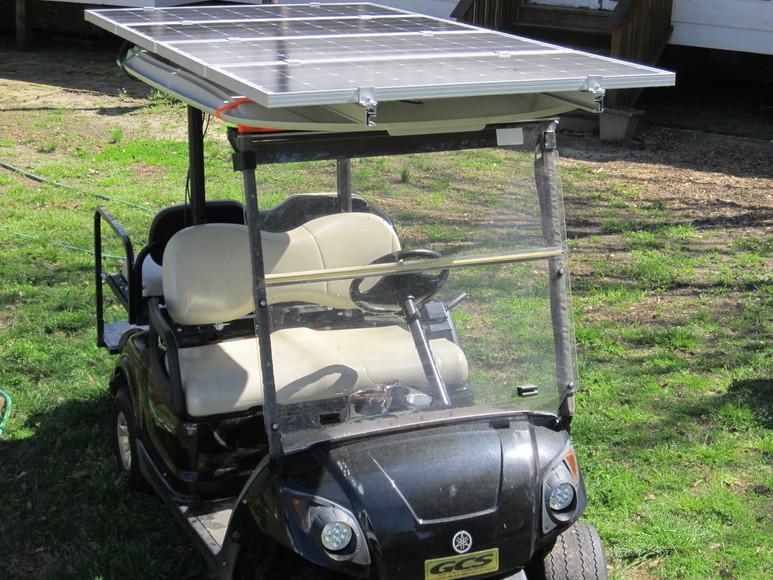 AIR ONE SOLAR SOLAR POWERED GOLF CART KITS COLUMBUS, GA.  Watt Solar Panel Golf Cart on golf cart led lights, golf cart air bag suspension, golf cart awning, golf cart inverter, golf cart phone charger, golf cart lithium battery, golf cart battery charger,